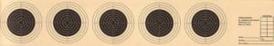 5er Streifen Luftgewehrscheibe